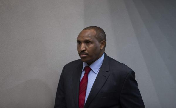 """Bosco Ntaganda, the former Congolese militia leader known as """"Terminator,"""" awaits his verdict Thursday in the courtroom of the International Criminal Court in The Hague, Netherlands. The warlord would ultimately be sentenced to 30 years in jail for war cr"""