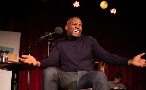 Terry Crews appears on Ask Me Another at the Bell House in Brooklyn, New York.