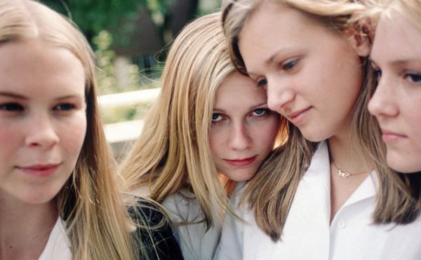 Leslie Hayman, Kirsten Dunst, A.J. Cook and Chelse Swain as the enigmatic Lisbon sisters in Sofia Coppola's The Virgin Suicides.