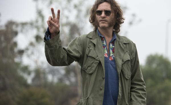 "Joaquin Phoenix stars as Larry ""Doc"" Sportello — a private investigator with a pot smoking habit — in Inherent Vice, Paul Thomas Anderson's film adaptation of the novel by Thomas Pynchon."