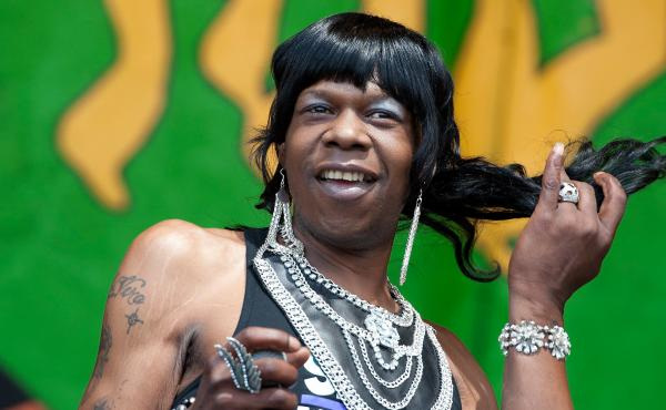 New Orleans Bounce rapper Big Freedia performs during the Bounce Shakedown at the 2012 New Orleans Jazz & Heritage Festival at the Fair Grounds Race Course on May 6, 2012 in New Orleans, Louisiana.