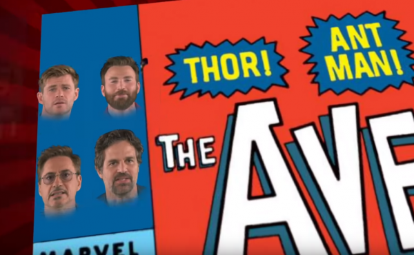 """Some of the (Male) Avengers spoof """"We Didn't Start The Fire."""""""
