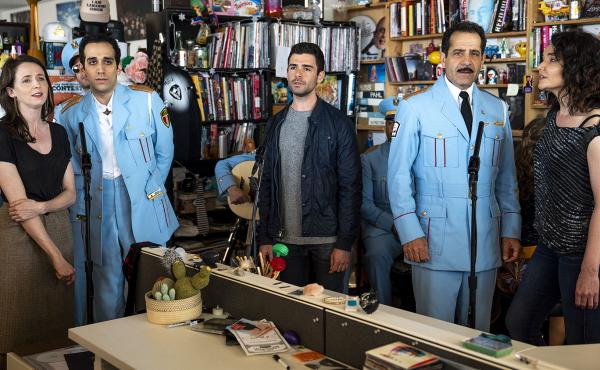 The Band's Visit perform a Tiny Desk on May 15, 2018 (Eslah Attar/ NPR).