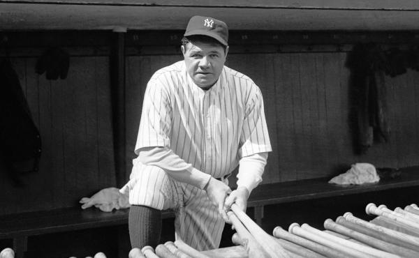 Babe Ruth at Yankee Stadium.