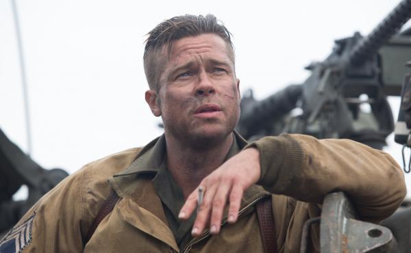 Brad Pitt plays Wardaddy, an Army sergeant leading a mission in Nazi Germany.