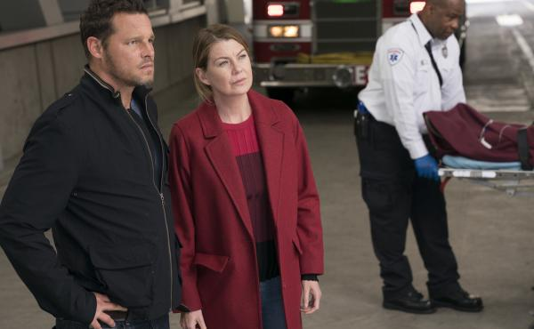Grey's Anatomy is now in its 14th season, one season shy of equaling ER's record as TV's longest-running medical drama. (Pictured: Justin Chambers and Ellen Pompeo)
