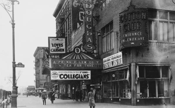 142nd Street and Lenox Avenue in Harlem, New York City, circa 1927.