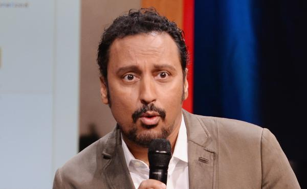 """""""You may realize that television is mostly full of white people, with a few brown people peppered in. Really, it's all white people and Aziz Ansari,"""" says The Daily Show's Aasif Mandvi."""