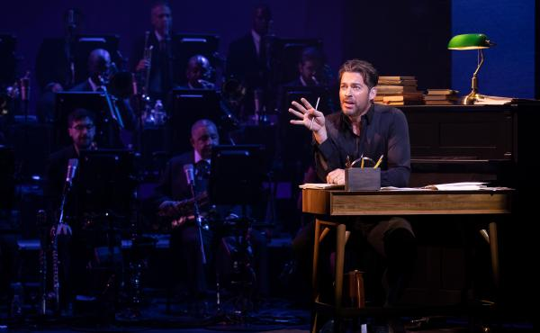 Harry Connick, Jr., onstage during a performance of his short-run Broadway show, A Celebration of Cole Porter.