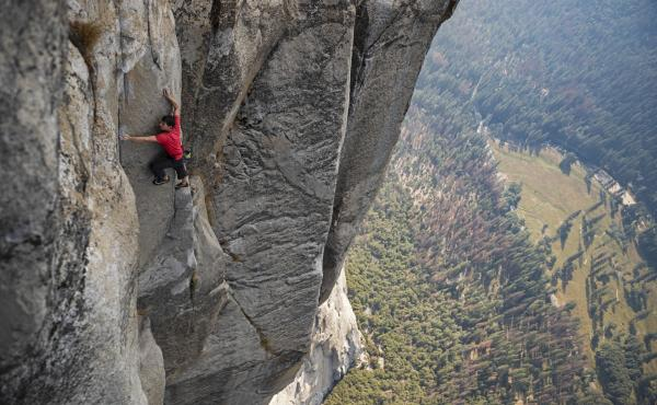 Alex Honnold's ascent of El Capitan in Yosemite National Park — without ropes or safety equipment — was the subject of the documentary film Free Solo.