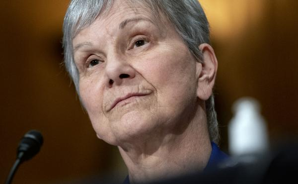 Dr. Janet Woodcock, acting commissioner of the Food and Drug Administration, appears before a Senate committee in July. Many public health leaders say letting the agency go so long without a permanent director has demoralized staff and sends the wrong mes