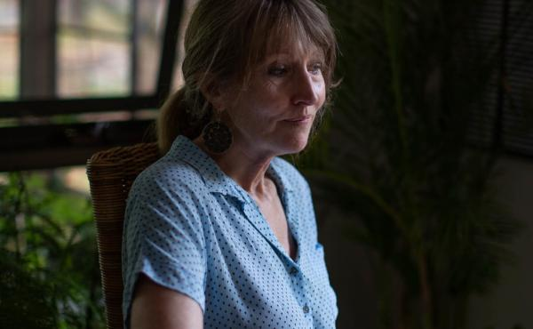 """Debra Parkinson says that she encountered pushback from community members when her team first began talking to women about their experiences with domestic violence. """"When you ignore it, you know, it's not good for anyone,""""' she says. """"It's not good for th"""