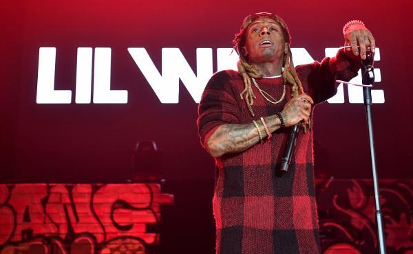 "Lil Wayne onstage in Atlanta during his 2017 ""Kloser 2 U"" tour."