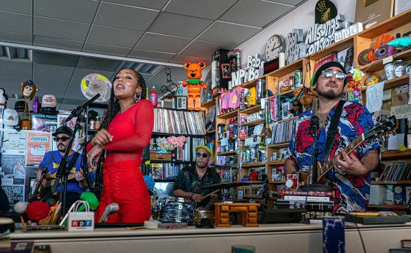 The Free Nationals play a Tiny Desk concert (Bob Boilen/NPR).