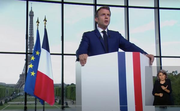 """French President Emmanuel Macron says vaccination is """"the only path to return to normal life."""" His new policy will require a special """"health pass"""" for anyone wanting to visit restaurants."""