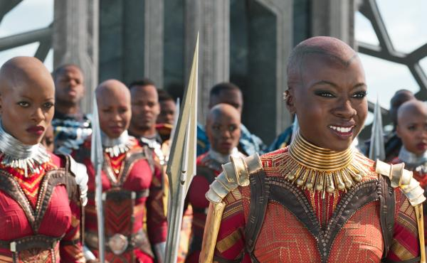 """Douriean Fletcher made everything from earrings to armor for the 2018 film Black Panther. Fletcher spent time studying in South Africa, and learned that, for some, """"what you wear is telling somebody who you are — whether it's the region you're from, the"""