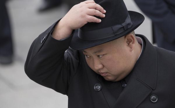 North Korean leader Kim Jong Un attends a wreath laying ceremony in Vladivostok, Russia on April 26.