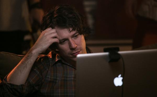 In The Heart Machine, John Gallagher Jr. plays a man who begins to suspect that his long-distance girlfriend actually lives nearby.