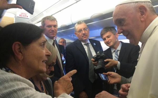 NPR's Sylvia Poggioli talks to Pope Francis.