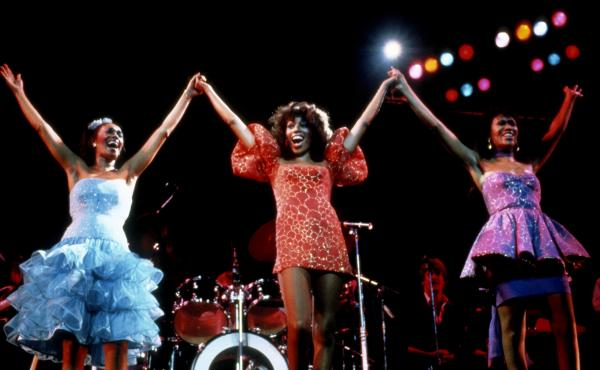The Pointer Sisters performing in New York City in 1983, the year the group released its album Break Out, which included four top 10 hits.
