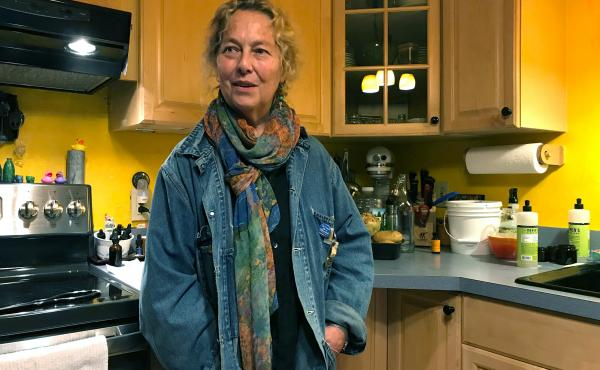 """MaryJane Sarvis, an artist in Shaftsbury, Vt., weaned herself from the opioid painkillers she was prescribed for chronic nerve pain. """"I felt tired all the time and I was still in pain,"""" she says. Marijuana works better for her, but costs $200 per month ou"""