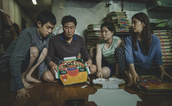 In Bong Joon-ho's movie Parasite, the Kim family — which assembles pizza boxes to get by — resides in a semi-basement apartment originally constructed as a nuclear-fallout bunker.