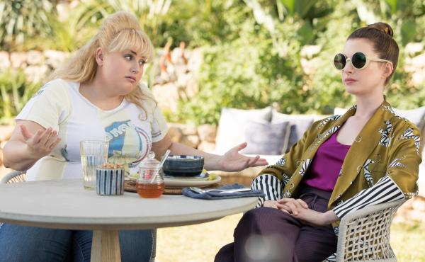 Rebel Wilson and Anne Hathaway star in The Hustle.