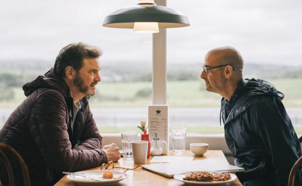 Sam (Colin Firth) and Tusker (Stanley Tucci) take one last trip in Harry Macqueen's Supernova.