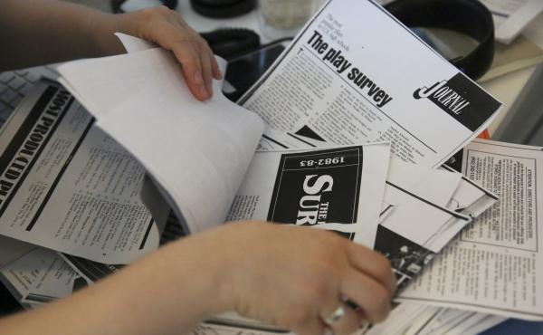 The NPR Ed team analyzed more than 100 pages of data from old issues of Dramatics magazine.