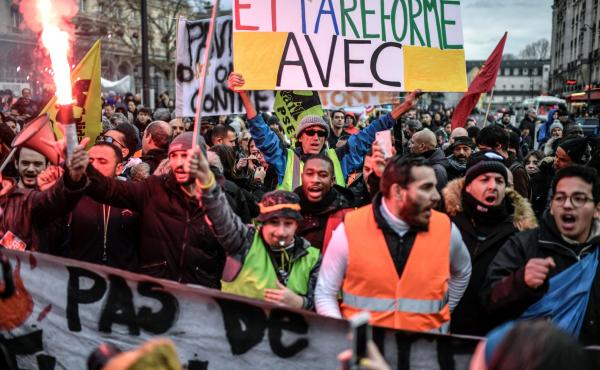 FRANCE-SOCIAL-TRANSPORT-STRIKE-DEMO