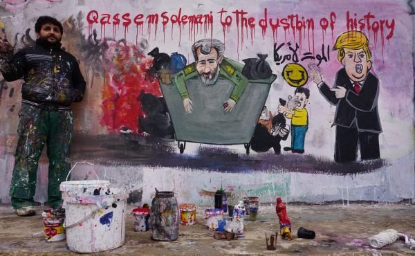 SYRIA-CONFLICT-IRAN-US-SOLEIMANI-MURAL