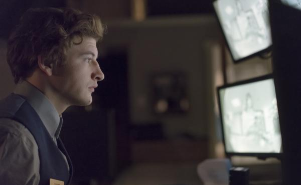 Bart (Tye Sheridan) takes guest relations to a new level in The Night Clerk.