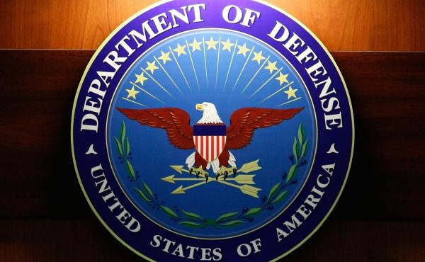 The seal of the Department of Defense.