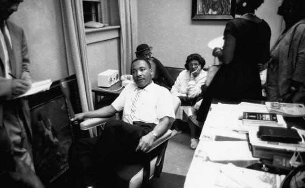 Martin Luther King, Jr., photographed in 1961.