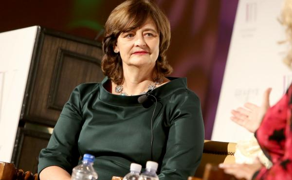 "Women's rights activist Cherie Blair speaks at an event in California in 2015. Last month she drew attention for her comment that ""most African ladies' first sexual experience is rape."""
