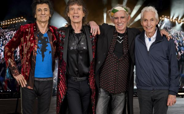 The Rolling Stones. From left: Ronnie Wood, Mick Jagger, Keith Richards and Charlie Watts.