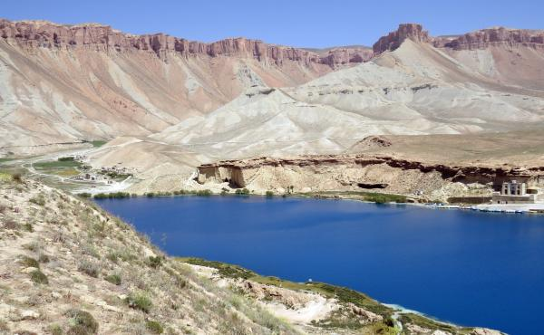 Band-e Haibat lake at Band-e Amir National Park.