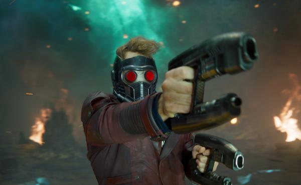 Pew! Pew! Pew! Volume Two: Star-Lord/Peter Quill (Chris Pratt) gives 'em both barrels in Guardians Of The Galaxy Vol. 2.