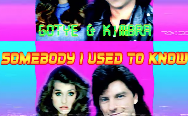 """The '80s VHS-style art for Gotye's """"Somebody That I Used To Know"""" as reimagined by YouTube user TRONICBOX."""