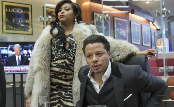 Taraji P. Henson, left, and Terrence Howard star as Cookie and Lucious Lyon in the Fox TV show Empire.