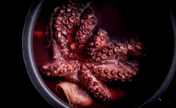 "Boiled octopus, a recipe for ""reliably tender, flavorful octopus that can be used as it is, or as a basis for fried or grilled octopus dishes,"" write Richard Horsey and Tim Wharton in Ugly Food. ""Octopus is also totally sustainable, very economical and in"