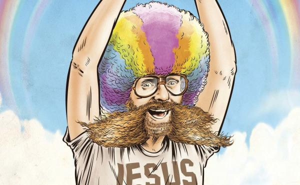 """""""Rainbow Man,"""" one of 29 disturbing stories from American history covered in Dave Anthony and Gareth Reynolds' The United States of Absurdity."""