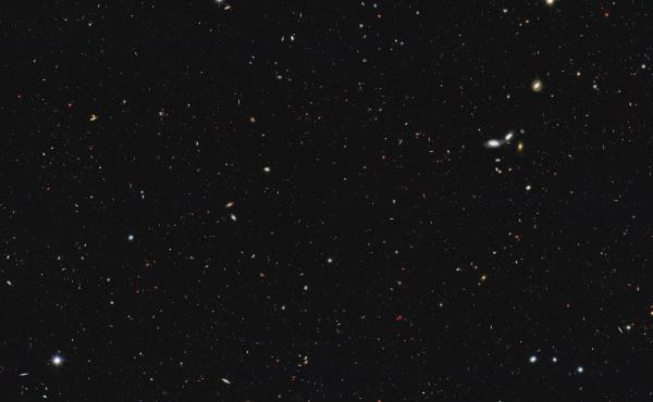 This image shows a portion of the sky used to recalculate the total number of galaxies in the observable universe.