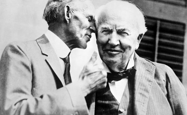 Thomas Edison and Henry Ford in 1934.