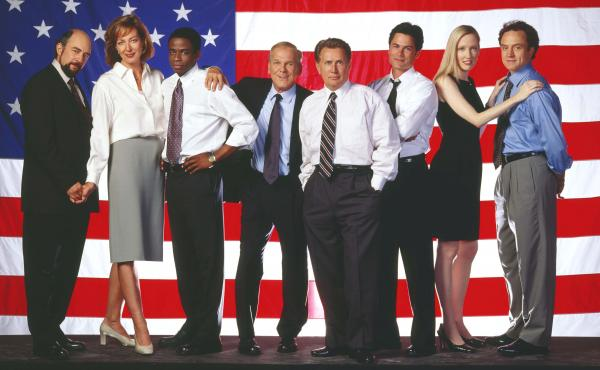 Cast members of the NBC drama The West Wing.