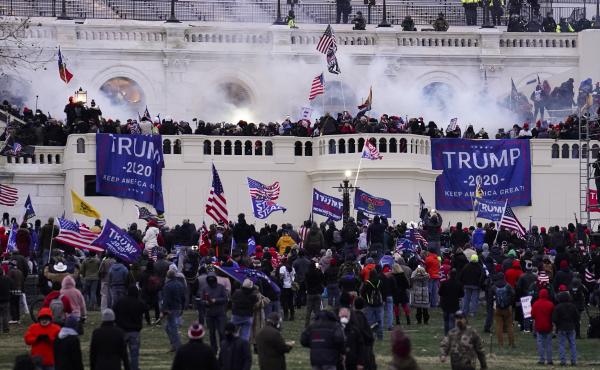 Protesters storm the Capitol on Jan. 6.