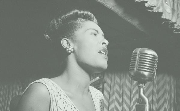 Billie Holiday performs at the Club Downbeat in Manhattan in 1947.