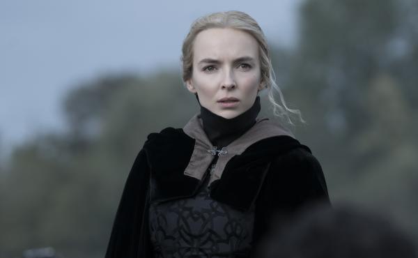 Jodie Comer as Marguerite de Carrouges in The Last Duel.