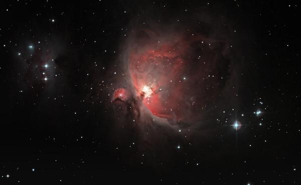 In the Orion Nebula (M42), new stars and planetary systems are being born. They are build from the materials of previous stars which have died in a supernova explosion.