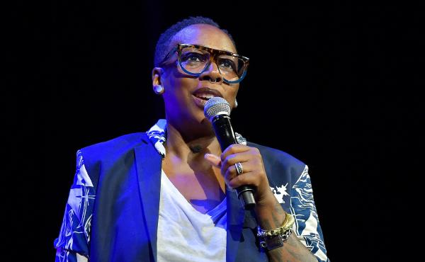 Gina Yashere is a co-creator of the new CBS sitcom Bob Hearts Abishola. She speaks above at the 2018 Tribeca Film Festival in New York City.